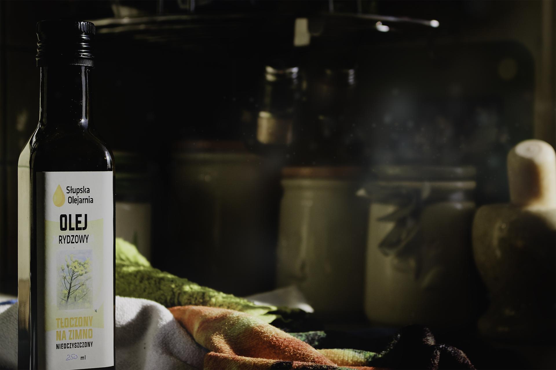 Olej rydzowy roślinny tłoczony na zimno